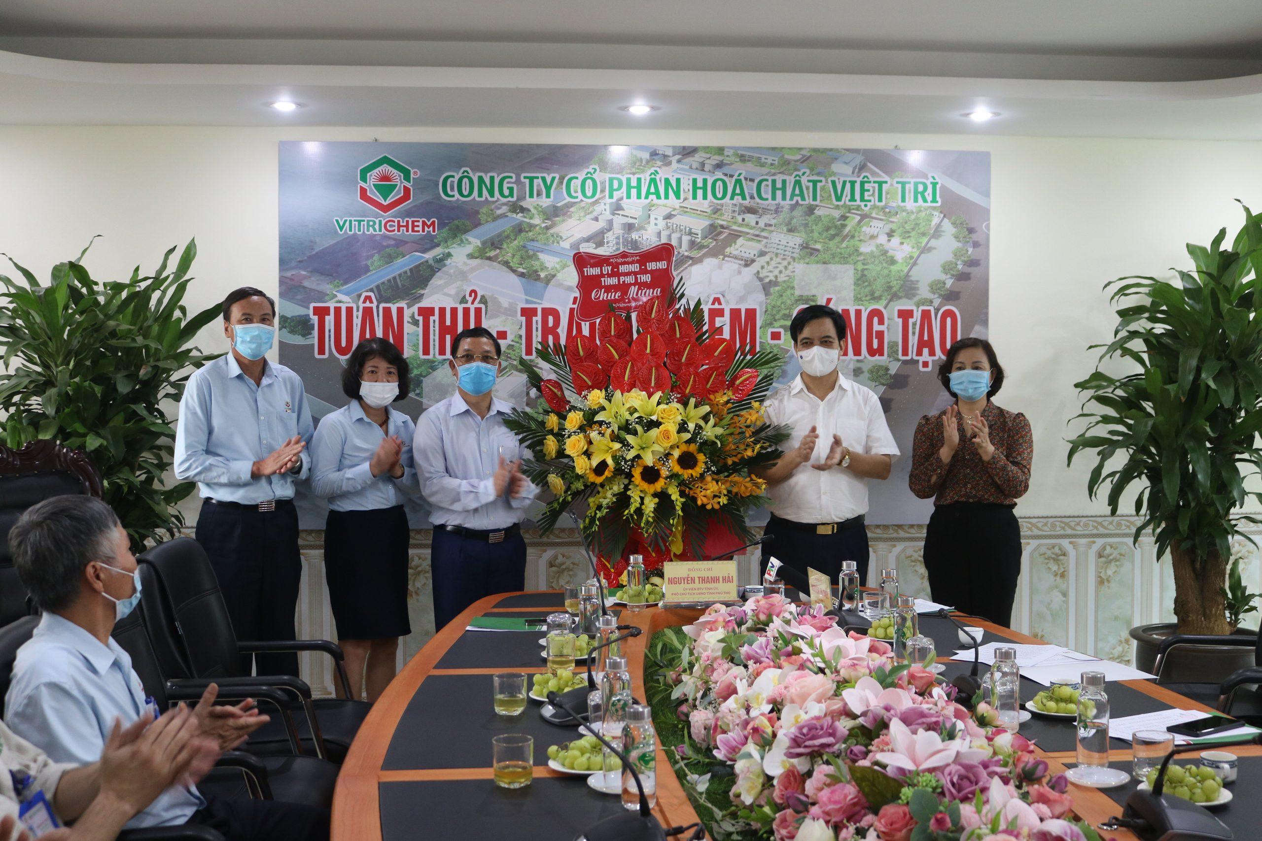 Đồng chí Nguyễn Thanh Hải, Ủy viên BTV Tỉnh ủy, Phó Chủ tịch UBND tỉnh tới thăm và làm việc tại Công ty