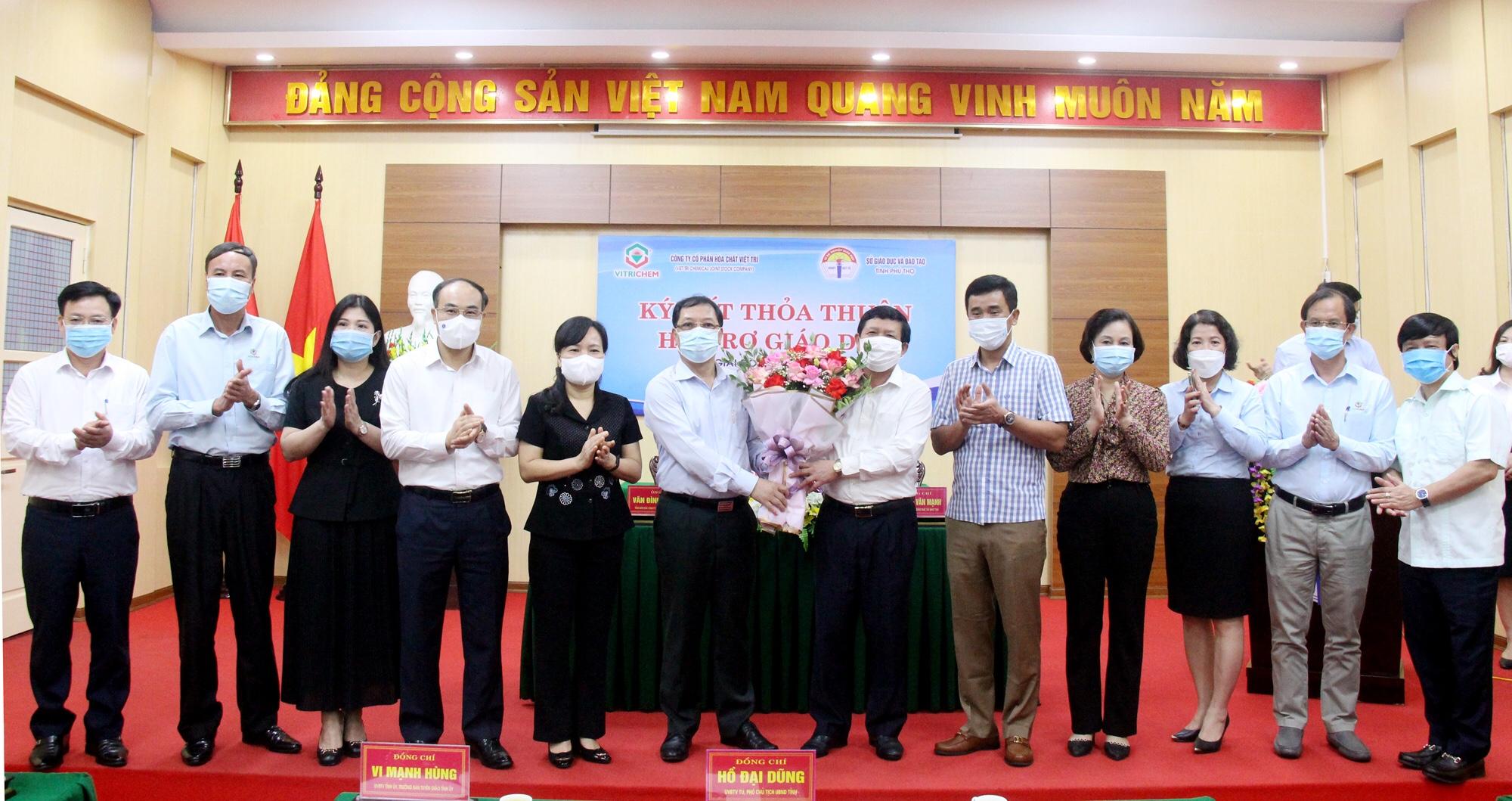 Công ty Cổ phần Hoá chất Việt Trì kí kết thoả thuận hỗ trợ giáo dục giai đoạn 2021 – 2025