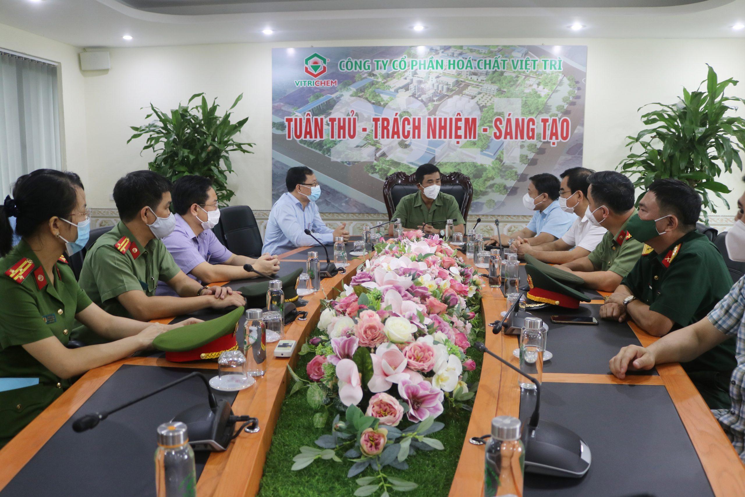 Đồng chí Hồ Đại Dũng, Ủy viên BTV Tỉnh ủy, Phó Chủ tịch UBND tỉnh Phú Thọ tới thăm và làm việc tại Công ty