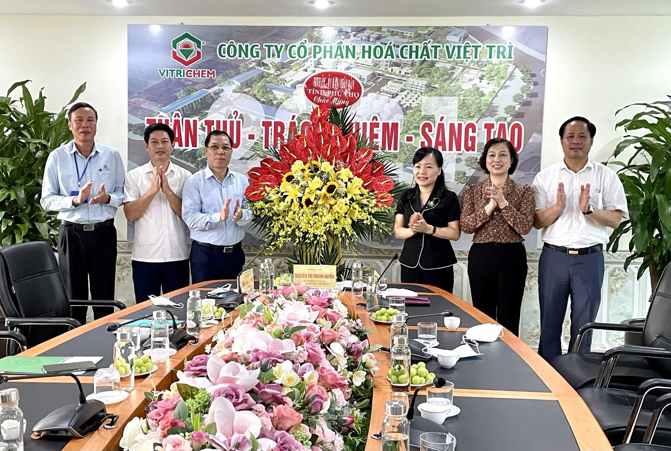 Đồng chí Nguyễn Thị Thanh Huyền, Ủy viên BTV Tỉnh ủy,  Trưởng Ban Dân vận tỉnh Phú Thọ tới thăm và làm việc tại Công ty